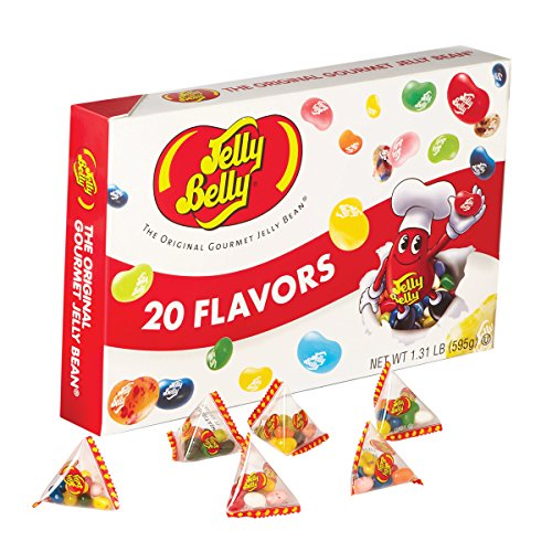 Jelly Belly Jumbo 1.31 Pound Box of Assorted Jelly Beans - 20 Assorted Flavors - Small Individual Bags - Official, Genuine, Straight from the Source
