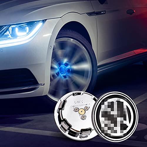 JUULLN Cubierta Central 4pcs Rueda LED lámpara Cap Coche Flotante de la Rueda de la Rueda del Centro de la lámpara LED Adecuada para BMW BMW Mercedes-Benz Mazda Toyota Tapacubos