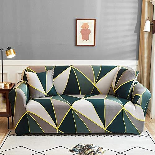 WXQY Funda de sofá elástica con Estampado Floral, Esquina de la Sala de Estar, sillón en Forma de L, Todo Incluido, Chaise Longue, Manta de sofá A7, 4 plazas