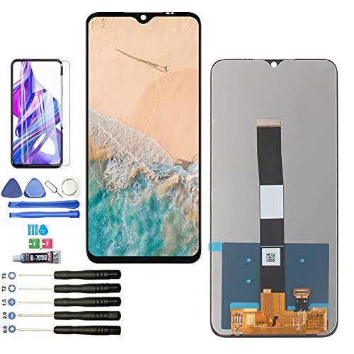 YWL-OU Pantalla para Xiaomi Redmi 9A LCD Kit de Pantalla táctil Digitizer para Redmi 9C Montado Reemplazo con Herramientas (Negro)