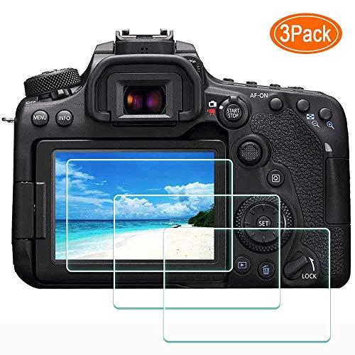 ULBTER Protector de pantalla para cámara Canon EOS, dureza 9H, protector de pantalla de cristal templado ultra transparente, antiarañazos, antihuellas, antipolvo [3 unidades]