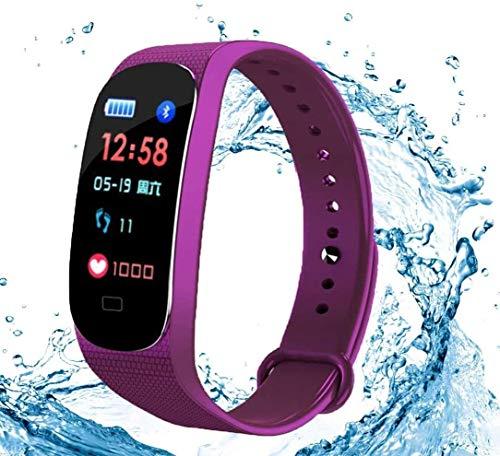 Gymqian Fitness Tracker Fitness Tracker Activity Watch, Hombres Y Mujeres Tasa Del Corazón Monitor de Sueño Impermeable Pantalla Táctil Pulsera Inteligente Deportes Calorie Podómetr