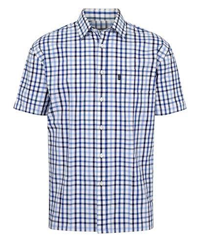 Walker and Hawkes - Chemise pour Homme - 100% Coton - Manches Courtes/à Carreaux - Style Campagne - Bleu - 3XL (48'')