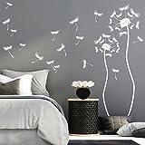 Wandtattoo Loft 'Zwei Pusteblumen mit vielen Pollen' / Wandtattoo / Wandaufkleber / Wandkunst / 54 Farben / 4 Größen / hellbraun / 50 x 160 cm & 40 x 120 cm