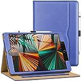 AIWOXING Funda para Nuevo iPad 10,2 Pulgadas (2021/2020/2019 Modelo, 9.ª / 8.ª / 7.ª Generación), Smart Cover Carcasa con Soporte Apple Pencil, Auto-Sueño/Estela Protectora Case para Tablets, Azul