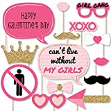Big Dot of Happiness Be My Galentine - Galentine's and Valentine's Day Party Photo Booth Props Kit - 20 Count
