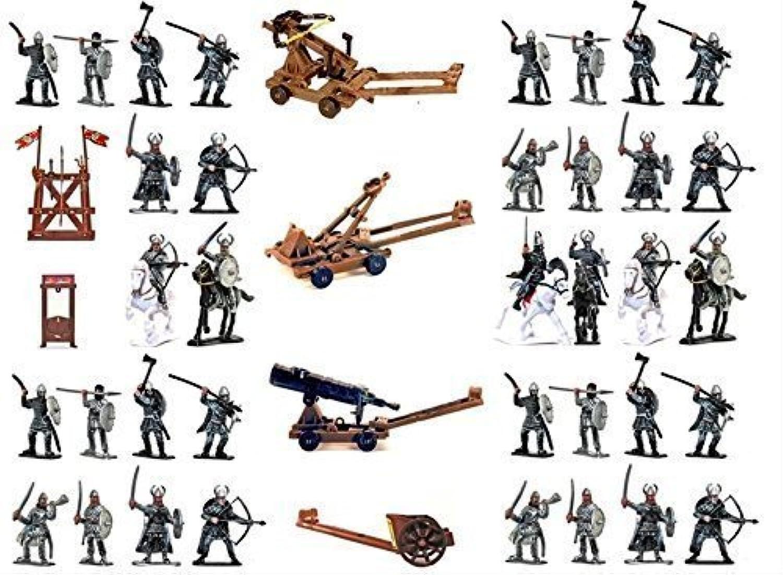 Viking Figures Playset Tub (50pcs Tub) 1 32 Playsets by Sunjade