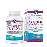 Nordic Naturals Complete Omega-D3, Lemon Flavor - 565 mg Omega-3 + 70 mg GLA + 1000 IU Vitamin D3-120 Soft Gels - EPA & DHA - Healthy Skin & Joints, Cognition, Positive Mood - Non-GMO - 60 Servings