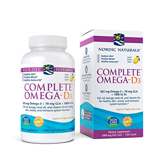 Nordic Naturals Complete Omega with D3 120 Softgels