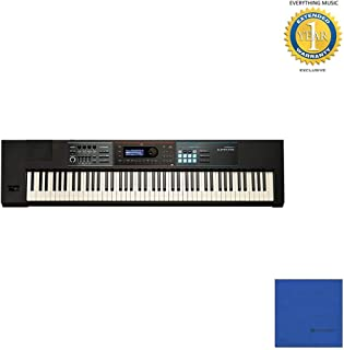 Roland Lightweight, 88-note Weighted-action Keyboard with Pro Sounds (JUNO-DS88) with Microfiber and 1 Year Everything Music Extended Warranty