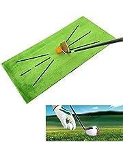 Golfpraxis Putting Mat Golf Training Mat Golf Swing Detection Strike Mat Game Gift för Home Garden Office Outdoor/Inomhus användning,Green