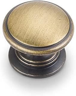 Jeffrey Alexander 3980-ABSB Durham Knob, Brass/Antique Brass