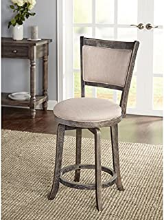 Simple Living French Country Grey Swivel Stool (24-inch)