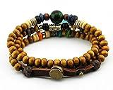 axy TWIC12a-4 Tibet WICKELARMBAND Serie 12a ! Armband+Halskette Bracelet Necklace!Holz Perlen Surferarmband Herren Damen Schmuck