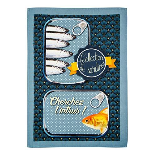 Stof Torchons colorés collection Dinard 100% coton (bleu foncé)