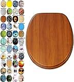 Asiento para inodoro de cierre suave, gran selección de atractivos asientos de inodoro con calidad superior y duradera de madera (Caoba)