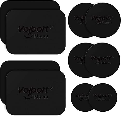 Metal Plate for Phone Magnet, 10 Pack Volport MagicPlate with 3M Adhesive Replacement for Magnetic Phone Car Mount Ho...