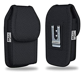 Agoz Alcatel Flip Phone Case for Alcatel GO FLIP Alcatel MyFlip ATT Cingular Flip 2 QuickFlip SmartFlip GO FLIP 3 Alcatel One Touch Retro Fling Rugged Pouch Holster with Belt Loop Metal Clip