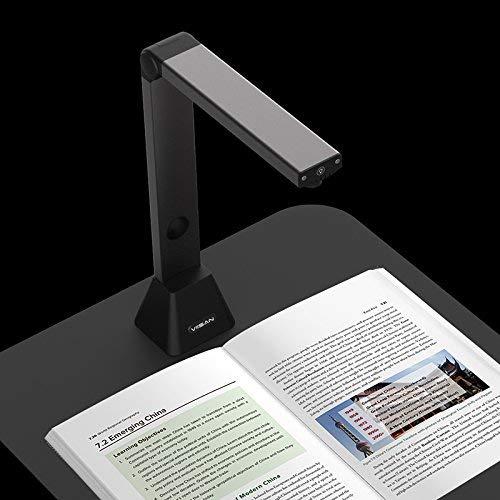 Home Office-Viisan VS8300 - Scanner per documenti Area di scansione A3 (420 x 290 mm). Risoluzione 3264x2448 OCR. Pieghevole e portatile
