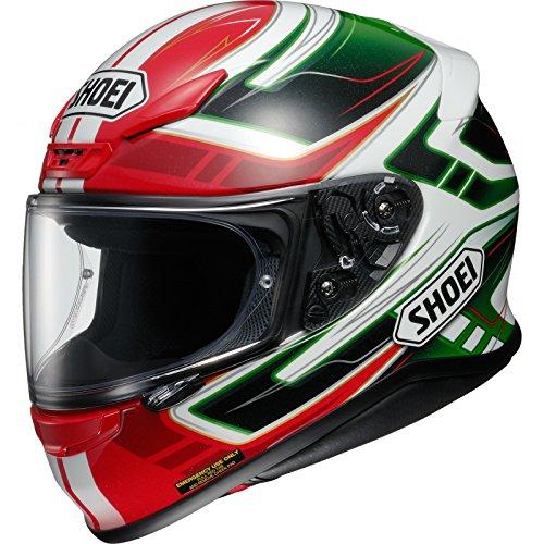 Shoei NXR Valkyrie Motorcycle Helmet XL Red Green (TC-4)