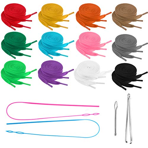 28 Pieces Replacement Drawstring Universal Drawstring Flexible Easy Threader for Sweater Jacket Coat Pant Swim Trunk Shoe Laces, 47.24 Inch
