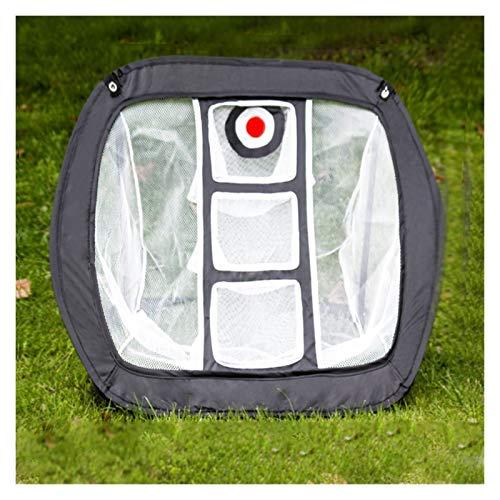 KGDUYH Red de golf plegable para entrenamiento de golf, jaula de golf portátil, para interior y exterior, jaula de lanzamiento, para jardín al aire libre, color negro