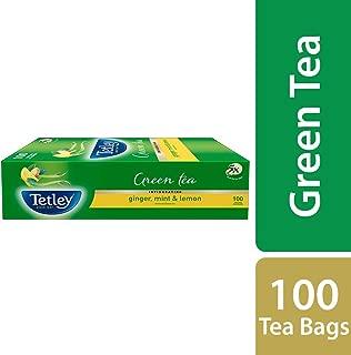 Tetley 1 Green Tea, Ginger, Mint And Lemon, 100 Tea Bags