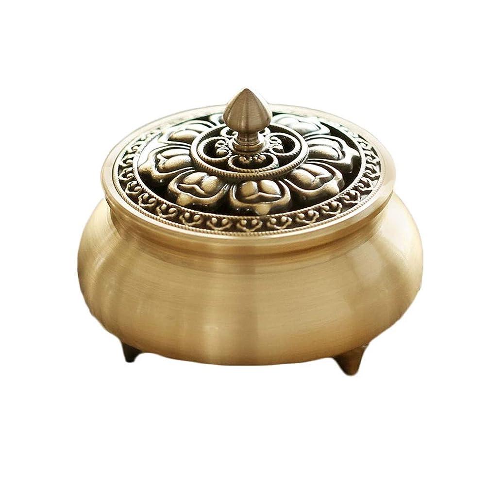 従事した混乱したスーパー芳香器?アロマバーナー 純粋な銅香炉ホームアンティーク白檀用仏寒天香炉香り装飾アロマセラピー炉 アロマバーナー (Color : Brass)
