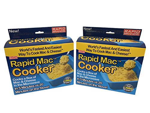Rapid Mac Cooker  Microwave Boxed Macaroni and Cheese in 5 Minutes  BPA Free and Dishwasher Safe Blue 1Pack