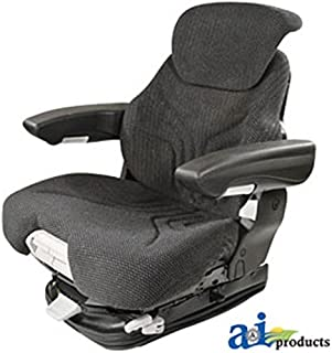 Grammer Seat Assembly; Charcoal MATRIX CLOTH; Black Vinyl Armrests