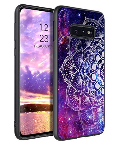 YINLAI Samsung Galaxy S10e Hülle,Handyhülle Samsung S10e Lila Mandala Nebula Muster mit TPU Bumper & PC Schale Kratzfest Fallschutz rutschfeste dünne Stylische Schutzhülle für Samsung S10e 5,8 Zoll