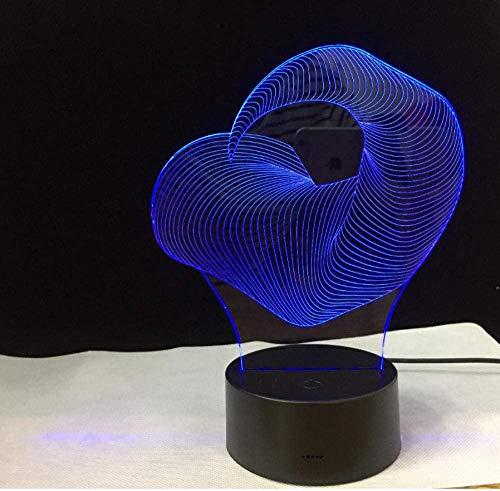 Led Marine Life Whale 3D Night Light 7 Couleurs 2 Modes Alimenté Par Usb Enfants Chambre Chambre Table De Chevet Lampe Décoration De Fête Garçon Fille Enfant Cadeau