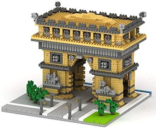 CZWYF BAU- & Konstruktionsspielzeug Arc de Triomphe Modell Architektur Baustein Set 1626 stücke Nano Mini Blocks DIY Spielzeug Kit und Geschenke for Kinder und Erwachsene