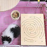 ケージアクセサリー安全な爪スクラッチボード、リススクラッチツール、ハリネズミウサギモルモットチンチラ用の耐久性のあるペットのおもちゃ