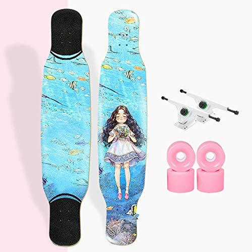 2020 Longboard Dance Maple Skateboard Deck Longboard Track Niños Y Niñas Principiante Skateboard Personalidad Personalidad Luya