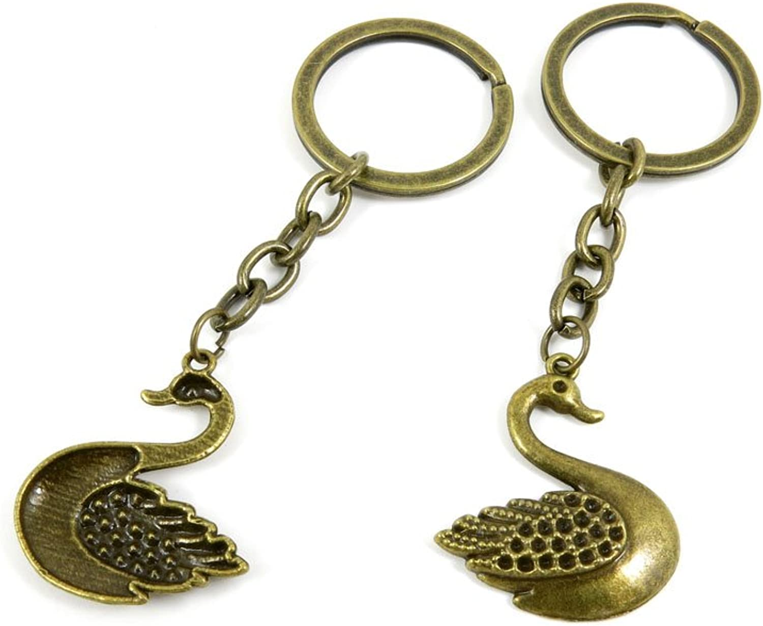 160 Pieces Fashion Jewelry Keyring Keychain Door Car Key Tag Ring Chain Supplier Supply Wholesale Bulk Lots Q3GC6 Swan