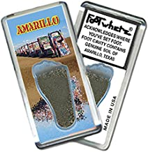 "product image for Amarillo ""FootWhere"" Souvenir Fridge Magnet. Made in USA (AMR205 - Cadillac Ranch)"