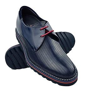 Zerimar Zapatos con Alzas Hombre  Zapatos de Hombre con Alzas Que Aumentan su Altura + 7 cm Zapatos con Alzas para Hombres   Zapatos Hombre Vestir   Fabricados en España