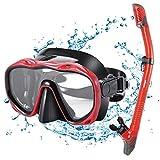 Kuyou Snorkel Set Adults,Dry Snorkeling Set Men Women Anti-Fog Snorkel Mask Impact Resistant