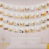 Luci Clip Foto, massway 6M 40 LED Striscia Foto Clip Luce Bianco Freddo Luci LED con Foto Mollette per Decorazione Camere Festa di Matrimonio Compleanno