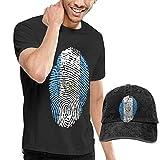 fghjfgdjhfd Camiseta de Manga Corta para Hombre,Guatemala Mens Funny T-Shirt and Baseball Cap Set, Short Sleeve T Shirt with Hat for Men Graphic Combination