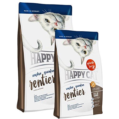 Happy Cat Sensitive Grainfree Rentier 4 kg + 2 x 300g *Gratis*