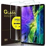 IVSO Templado Protector para iPad Pro 12.9 2020/2018, Premium Cristal de Pantalla de Vidrio Templado para Apple iPad Pro 12.9 2020/2018, 2 Pack