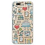 dakanna Funda para [Xiaomi Mi A1 - Mi 5X] Dibujo: Simbolos Medicina Enfermera Ambulancia Corazón Hospital, Carcasa de Gel Silicona Flexible [Fondo Transparente]