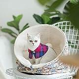 Ccgdgft Portable Pliable Pet Chaton Sac de Couchage résistant à l'eau Amovible Semi-fermé Chat d'intérieur lit for Le Repos Cat