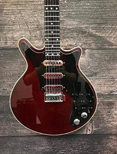 Florwesr Nueva Brian May Guitarra Especial Cereza Accesorios 24 trastes Buena Guitarra Guitarras eléctricas (Size : 39 Inches)