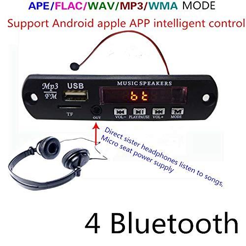 Calvas FM87.5-108 - Placa de decodificador de audio estéreo para MP3 (Bluetooth 4.0, 8 a 18 V, multifunción)