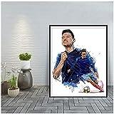 Florian Thauvin Art Moderne Décoration de La Maison Affiches Et Impressions Olympique De Marseille Mur Art Toile Peinture-50x70 cm Sans Cadre