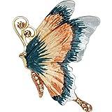 Gioielli con bottoni sul petto GCX- Bella Spilla Farfalla Temperamento Spilla Fibbia Sciarpa Fibbia Scialle Fibbia Giardino Ukiyo-e Bene (Color : Variegated, Size : 3.4 * 4cm)