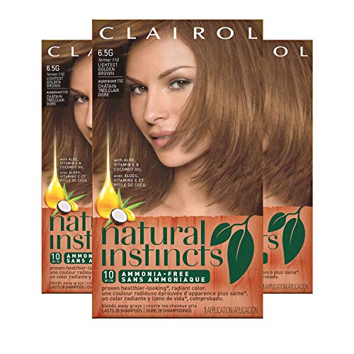 Clairol Natural Instincts Hair Color, Shade 6.5g 11g/amber Shimmer, 3 Count(Packaging may Vary) Clairol